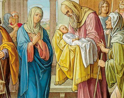 Presentazione di Gesù al Tempio. Lo accolse tra le braccia